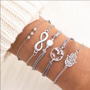 5PC BOHO world 🌎 love ❤️ bracelet set